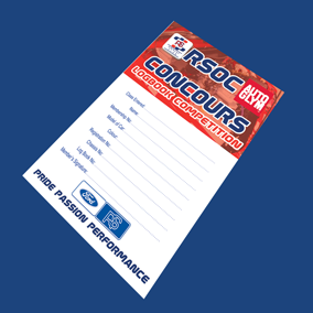 2018 Concours Logbook