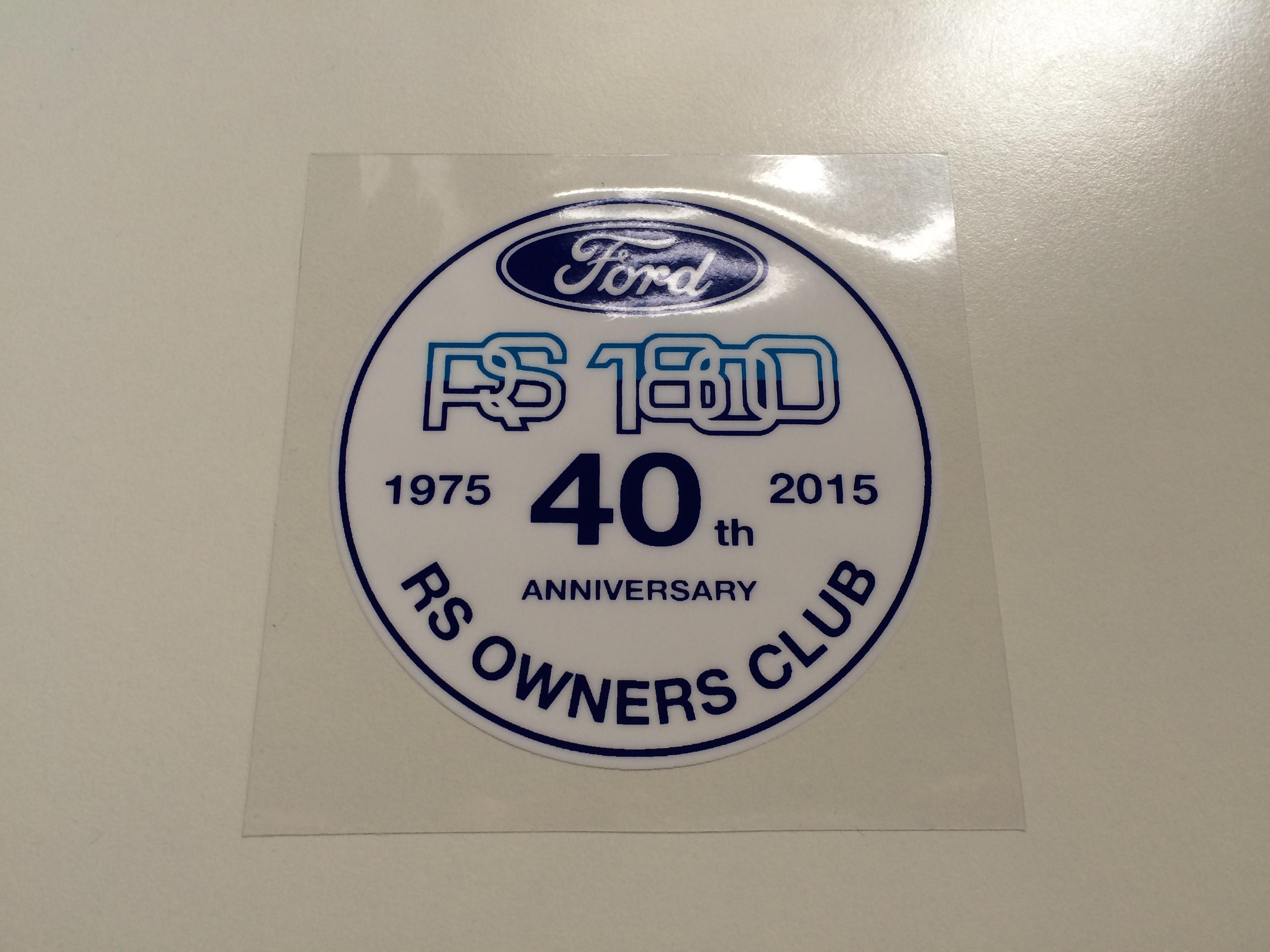 RS1800 40th Anniversary Sticker