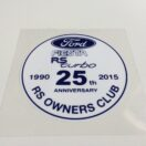 Fiesta RS Turbo Window Sticker
