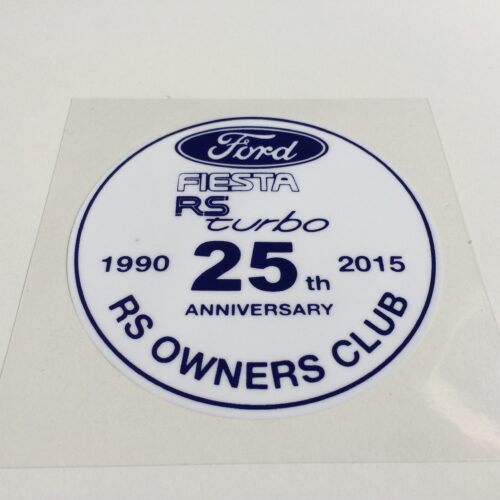 Fiesta RS Turbo Window Sticker