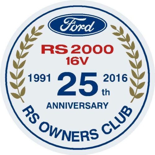 RS2000 16V 25th Anniversary Sticker