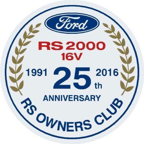 RS2000 16V 25th Anniversary Sticker