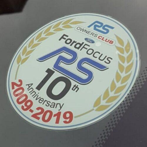 MK2 Focus RS 10th Anniversary Sticker